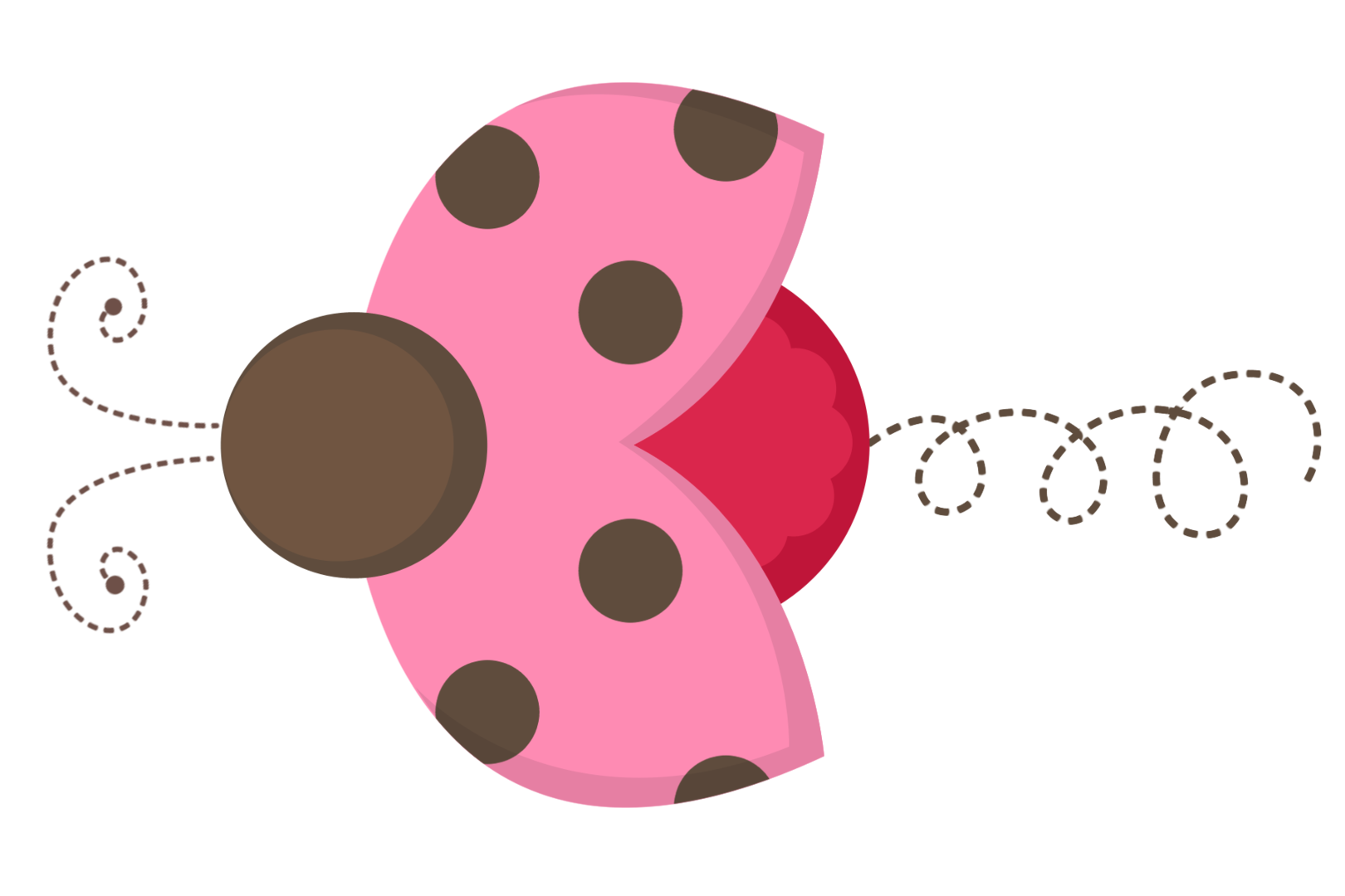 Ladybug on a flower clipart free vector freeuse library 4shared - exibir todas as imagens na pasta Pink and brown ladybugs ... vector freeuse library