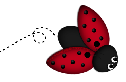 Ladybug flying clipart png black and white download Free Cute Clip Art | Ladybug Clipart PSP Tutorial Paint Shop ... png black and white download