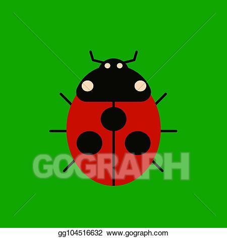 Ladybug icon clipart graphic royalty free stock Vector Clipart - Character ladybug icon. Vector Illustration ... graphic royalty free stock