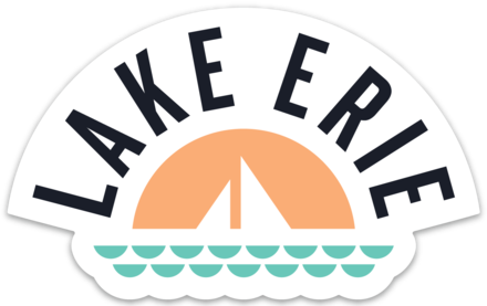Lake erie clipart clip black and white download Lake Erie Basic Sticker clip black and white download
