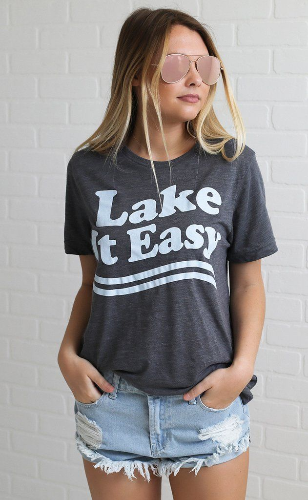 Lake life clipart large for t shirt png free library PRE-ORDER charlie southern: lake it easy t shirt | Lake Life ... png free library