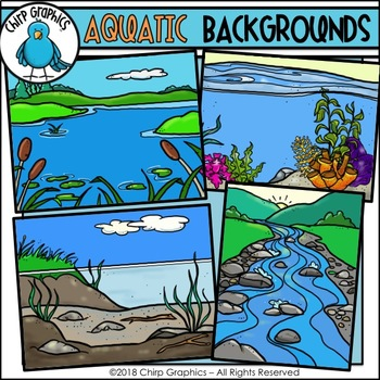 Lake scene background clipart transparent library Aquatic Background Scenes Clip Art - Chirp Graphics transparent library