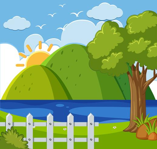 Lake scene background clipart png freeuse library Background scene with mountains and lake - Download Free ... png freeuse library