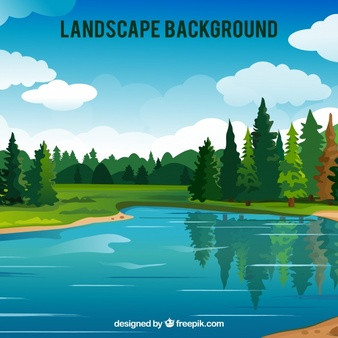 Three season lake scene clipart black and white stock Lake Vectors, Photos and PSD files | Free Download black and white stock
