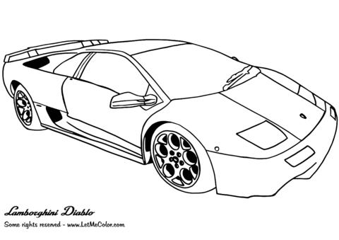 Lamborghini diablo clipart