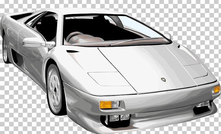 Lamborghini diablo clipart banner black and white download Sports Car Luxury Vehicle Lamborghini Diablo PNG, Clipart ... banner black and white download