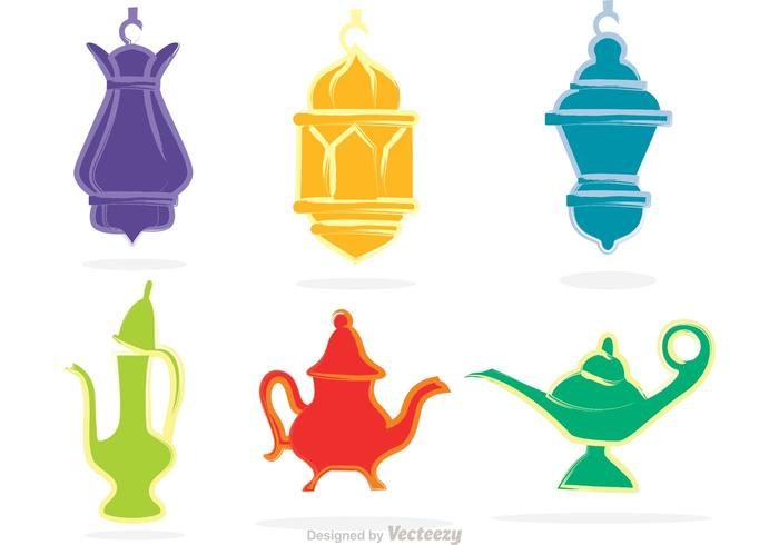 Lamp clipart vector clip art black and white library Magic Lamp And Lantern Vectors - Download Free Vectors ... clip art black and white library