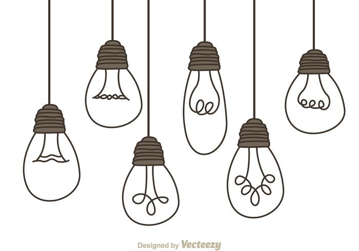 Lamp shade bulb system clipart clipart freeuse download Hanging Light Bulbs - Download Free Vectors, Clipart ... clipart freeuse download