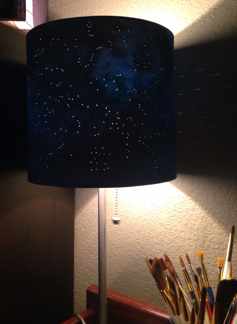 Lamp shade bulb system clipart jpg free stock DIY constellation lamp. White lamp shade, acrylic paint, and ... jpg free stock