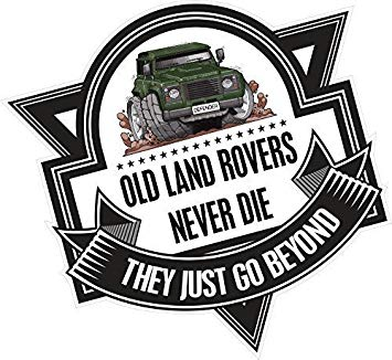 Land rover logo clipart graphic royalty free download Koolart Cartoon OLD LAND ROVERS NEVER DIE Slogan For Green ... graphic royalty free download