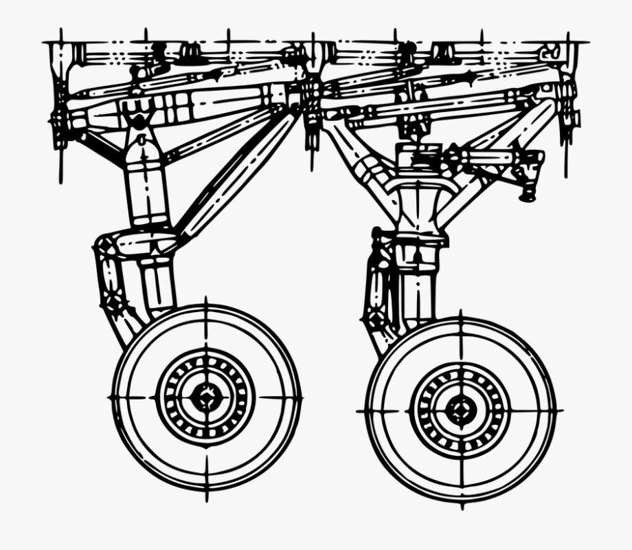 Landing gear clipart vector freeuse stock Plane, Landing, Gear, Airplane, Wheel - Aircraft Landing ... vector freeuse stock