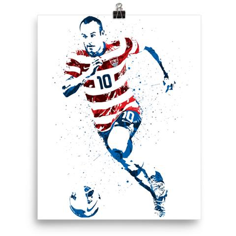 Landon donovan clipart png black and white library Landon Donovan USA Soccer Poster png black and white library