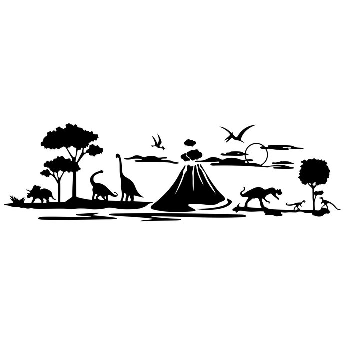 Landscape clipart files clip free Dinosaurs Landscape Volcano graphics design SVG DXF EPS Png Cdr Pdf Vector  Art Clipart instant downloads Digital Cut Print Files Shirt Vinyl clip free
