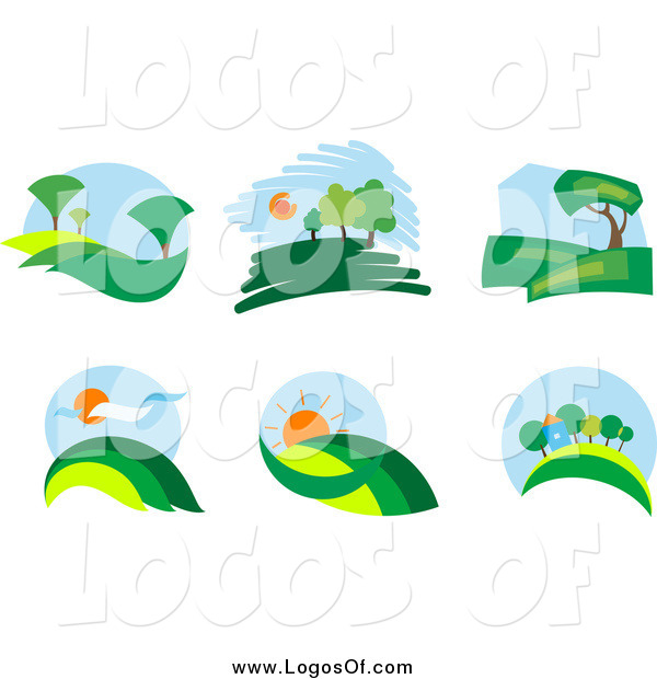 Landscape logo clipart png free stock Vector Clipart of Landscape Logos by Vector Tradition SM - #3920 png free stock