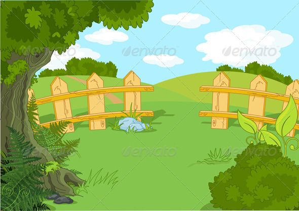 Landscapes clipart jpg library download Idyllic Landscape - Landscapes Nature | Crafting Ideas ... jpg library download