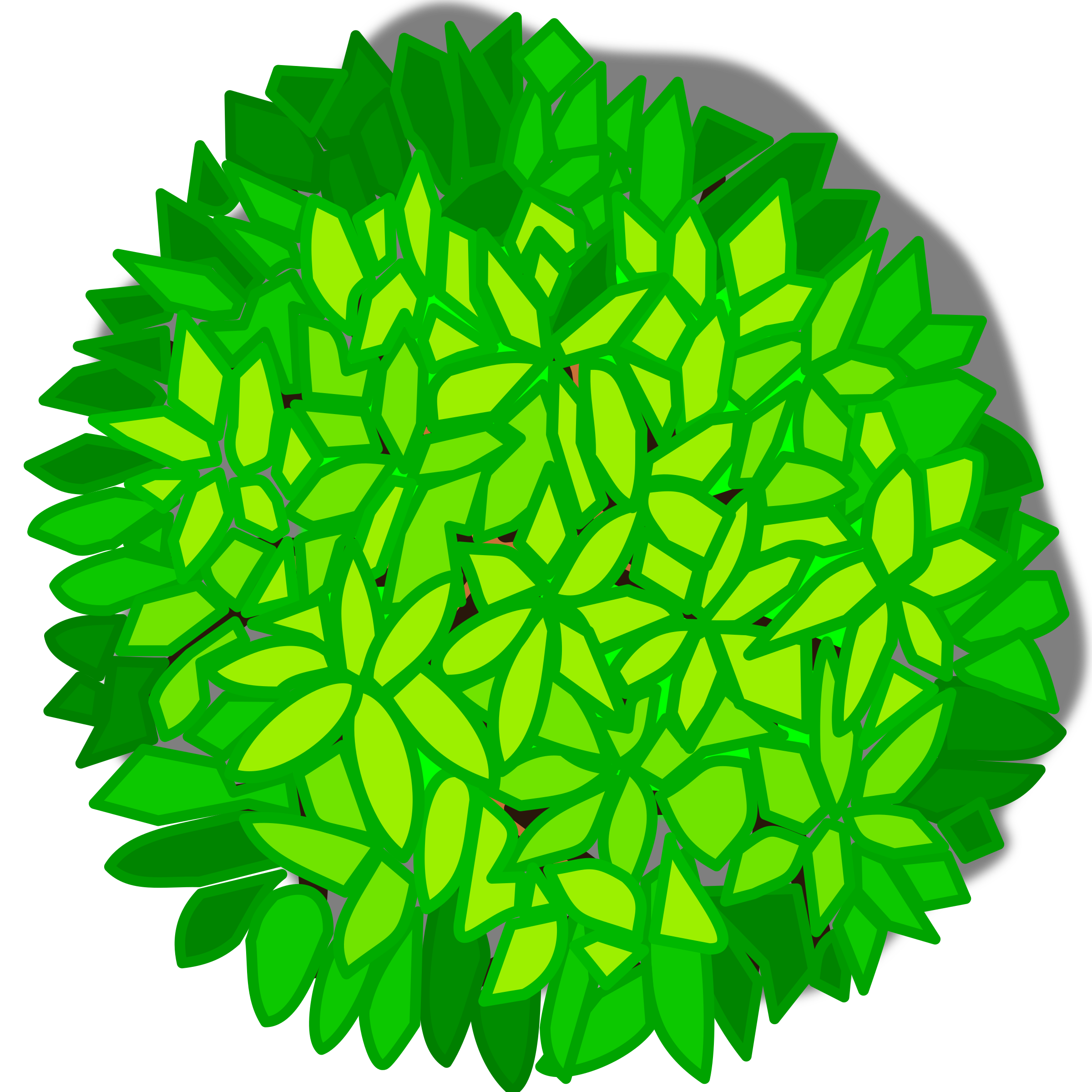 Clipart - Tree top view picture transparent