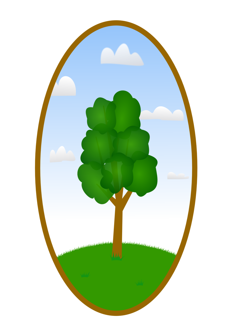 Tree landscape clipart jpg free download Public Domain Clip Art Image | Oval Tree Landscape 2 | ID ... jpg free download