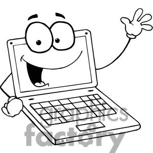 Laptop cute clipart black and white simple jpg library stock Laptop Clip Art Black And White | Clipart Panda - Free Clipart Images jpg library stock