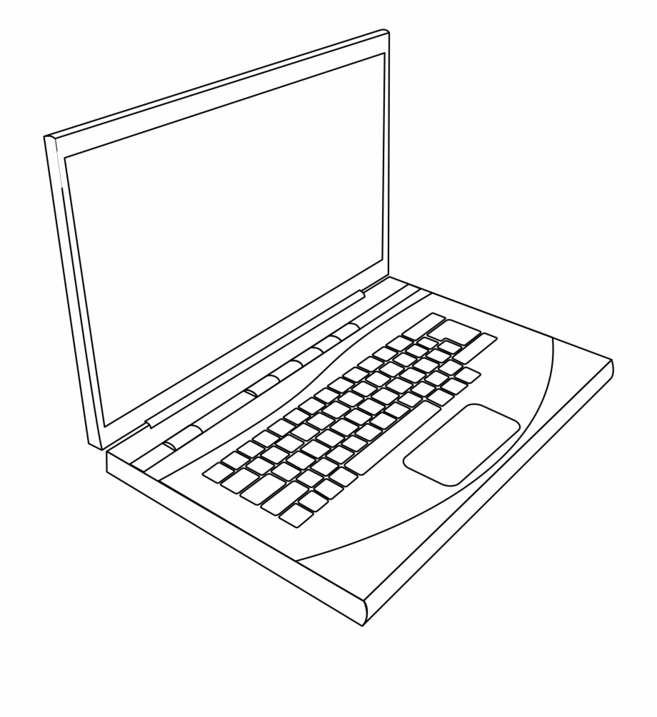 Laptop cute clipart black and white simple vector transparent library Free Laptop Clipart Transparent, Download Free Clip Art, Free Clip ... vector transparent library