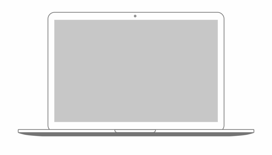 Laptop frame clipart png black and white Png Black And White Library Macbook Clipart Loptop - Laptop Frame ... png black and white