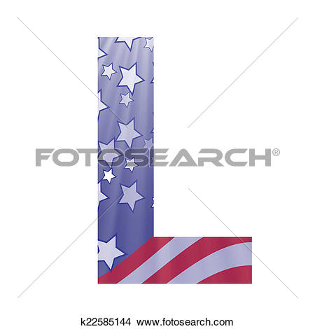 Large clipart american flag letters svg royalty free stock Drawings of american flag letter L k22585144 - Search Clip Art ... svg royalty free stock