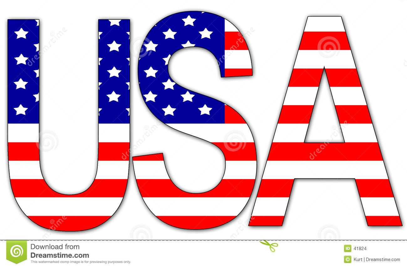 American Flag For Word Clipart - Clipart Kid image black and white