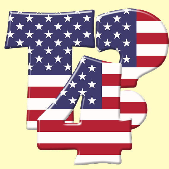 American flag alphabet clipart patriotic blue red by LucyPlanet transparent