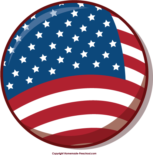 Free American Flags Clipart vector transparent