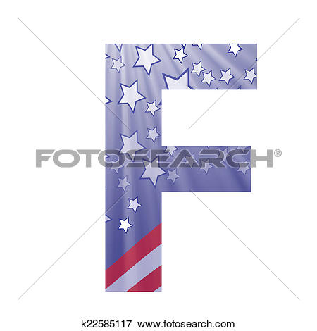 Stock Illustration of american flag letter F k22585117 - Search ... picture library