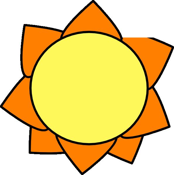 Sun clipart small graphic library stock Yellow Orange Sun Clip Art at Clker.com - vector clip art online ... graphic library stock