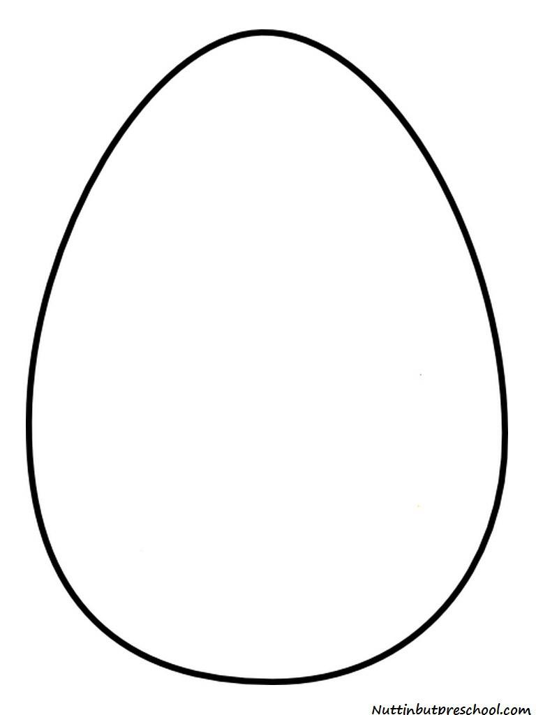 Large easter egg clipart jpg freeuse library Large Egg Template. polka dot chocolate egg egg with ribbon ... jpg freeuse library