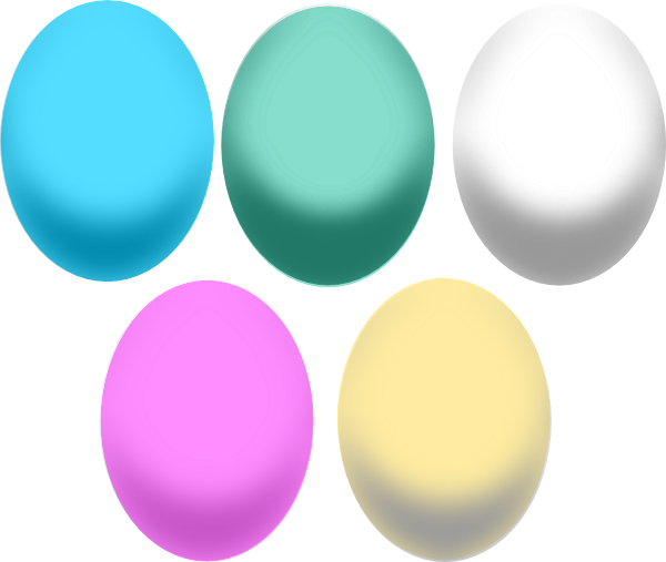 Large easter egg clipart graphic black and white library Colored Easter Eggs Clip Art at Clker.com - vector clip art online ... graphic black and white library