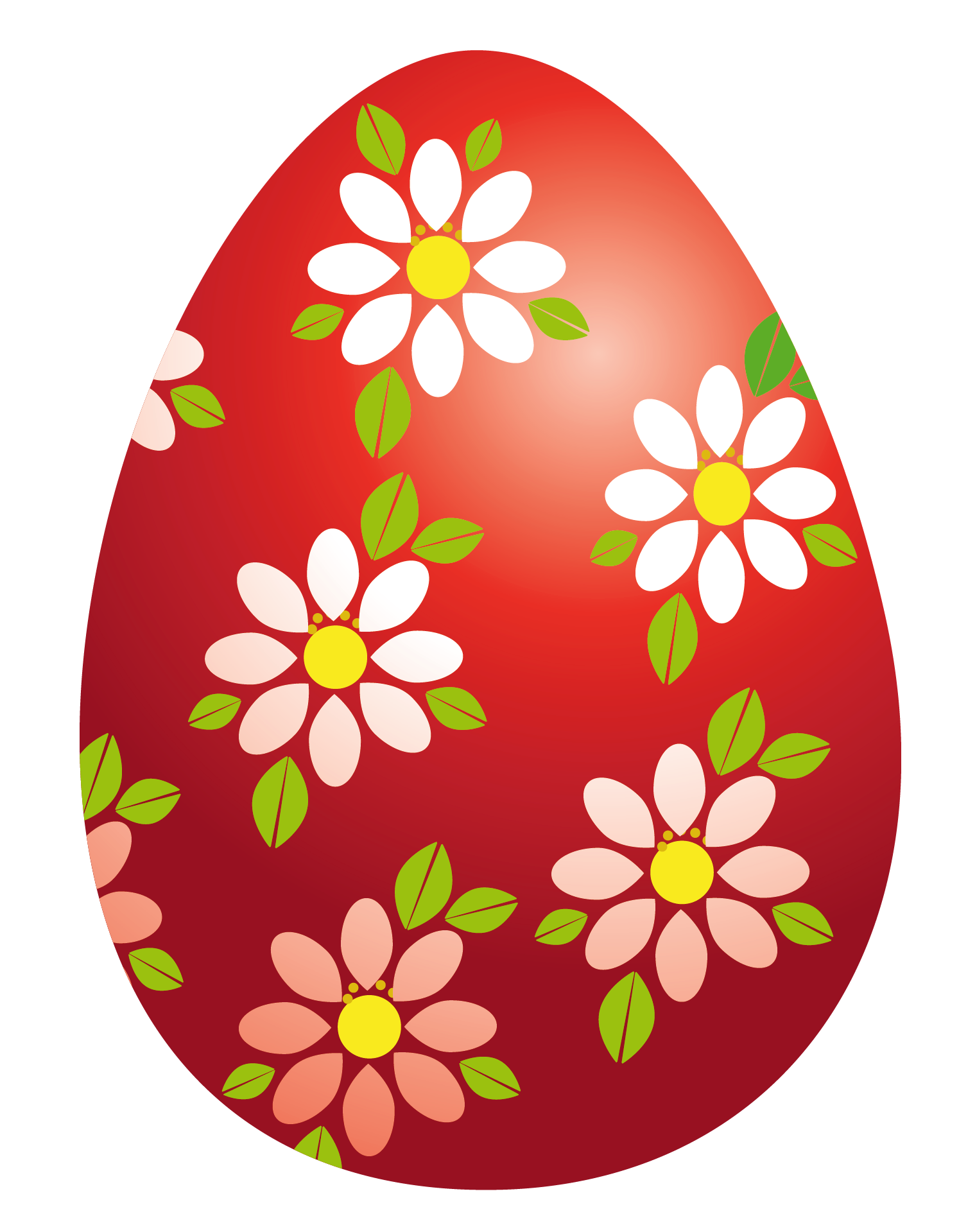Easter flower clipart clipart royalty free library Easter Red Egg with Flowers PNG Clipart Picture clipart royalty free library