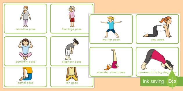 Large motor skills clipart black and white image transparent stock Yoga Gross Motor Activity Cards - exercise, gross motor, gross motor ... image transparent stock