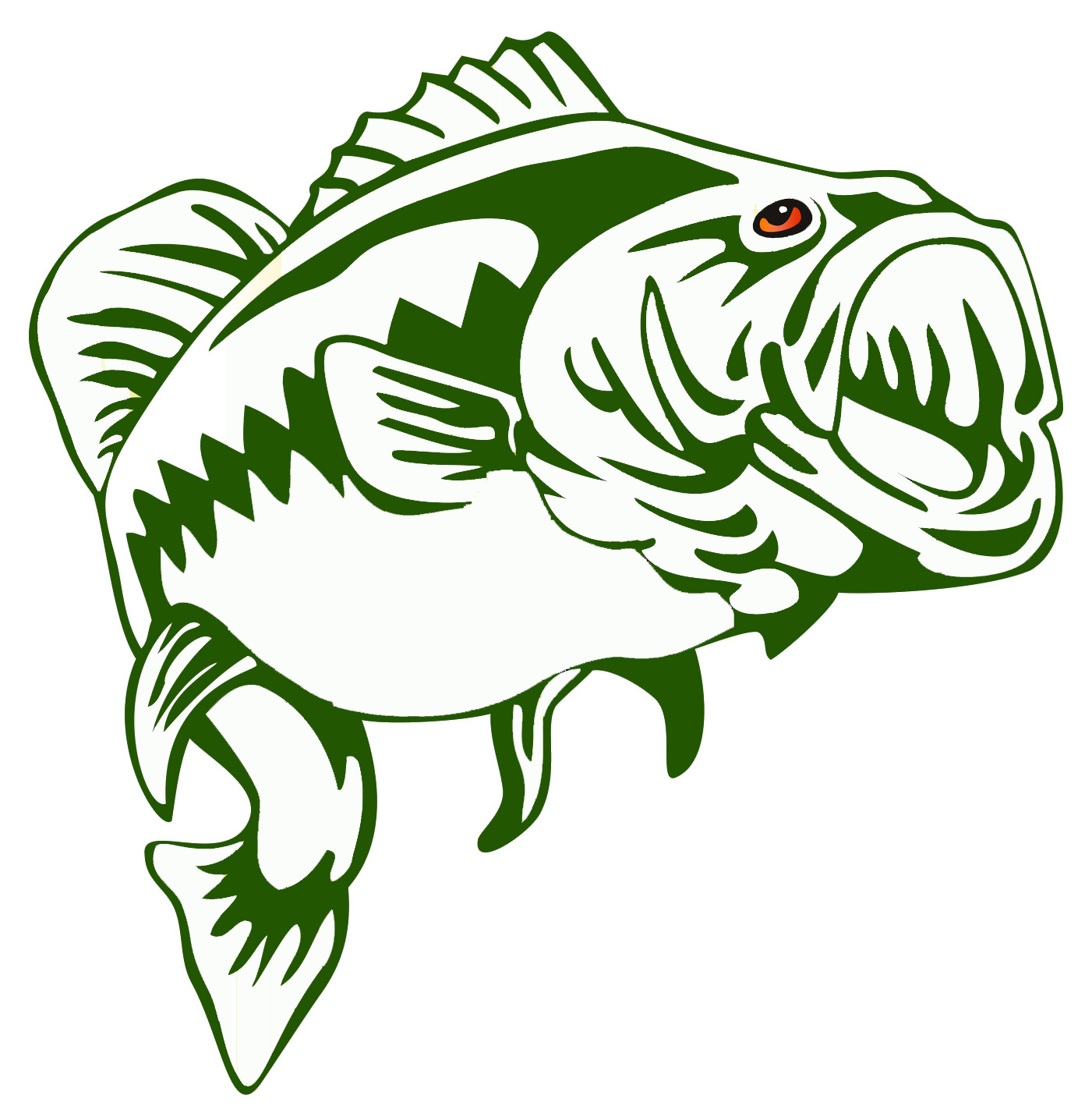 Large mouth bass clipart banner freeuse Best Bass Fish Outline #18241 - Clipartion.com banner freeuse