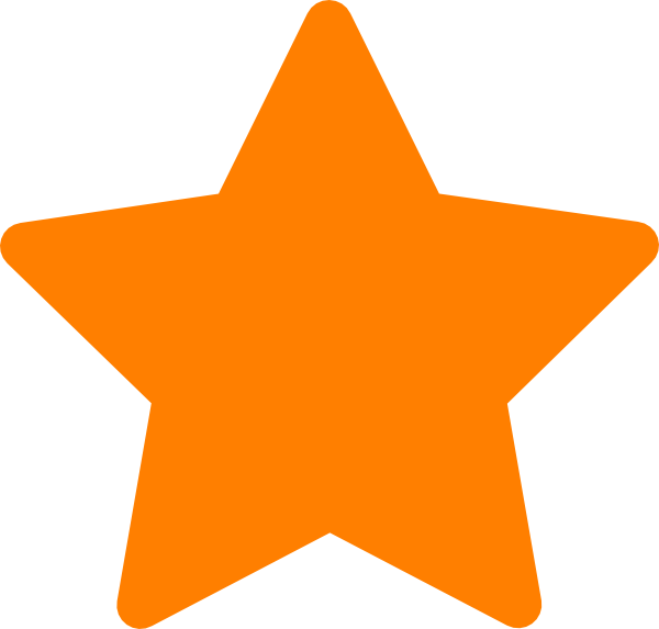 Star clipart large picture Star-orange Clip Art at Clker.com - vector clip art online, royalty ... picture