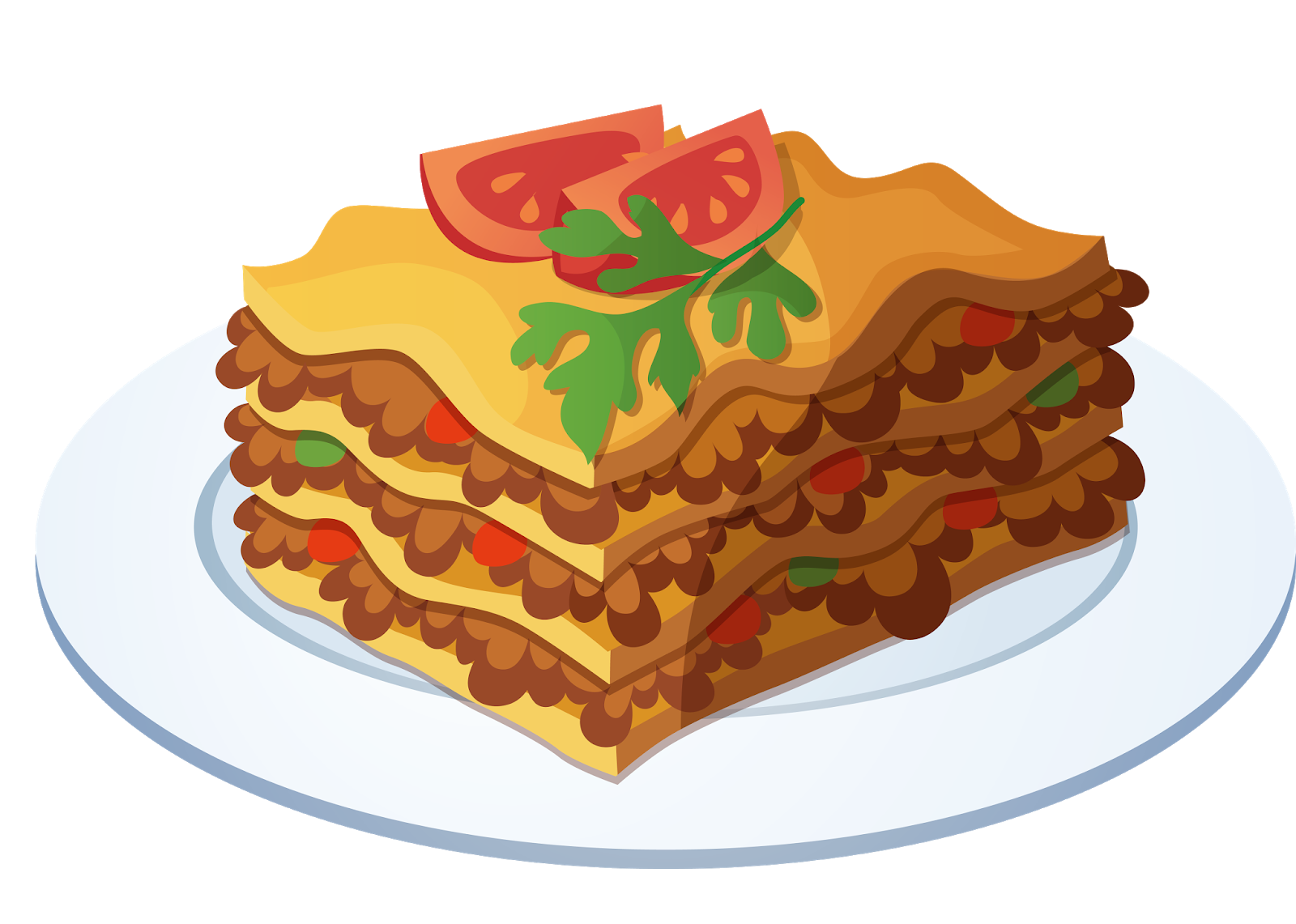 Lasagne clipart clip free library Lasagne Italian cuisine Pasta Drawing - others png download - 1600 ... clip free library