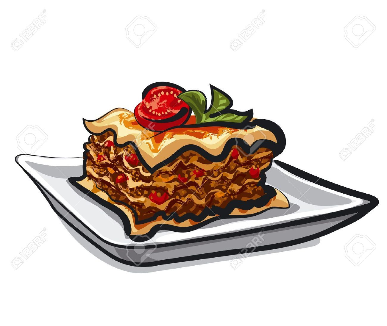 Lasagne clipart vector royalty free library Lasagne clipart 3 » Clipart Portal vector royalty free library