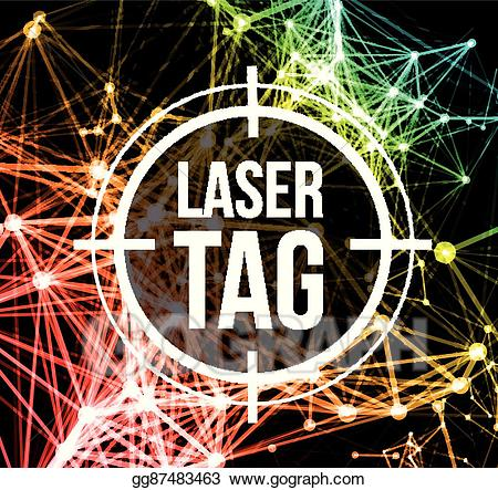 Lazer tag clipart clipart black and white Vector Illustration - Laser tag with target. EPS Clipart gg87483463 ... clipart black and white