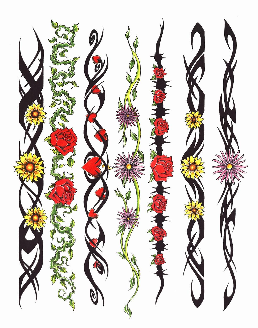 Latest clipart banner free stock Rose Yellow Flowers Red Heart Band Tattoo Designs Latest - Free ... banner free stock