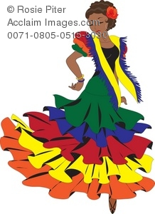 Latino clipart jpg free stock Clipart Illustration of a Latino Woman Dancing a Pasa Doble or ... jpg free stock