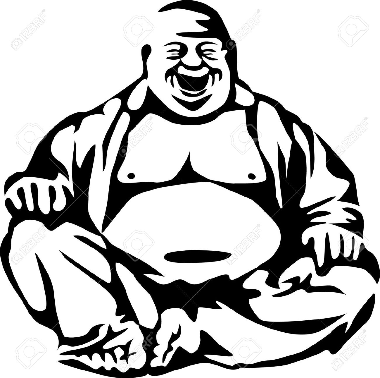 Laughing buddha clipart picture library library Laughing buddha clipart - ClipartFest picture library library