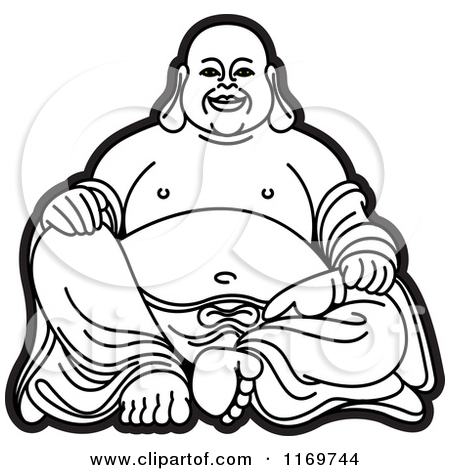Laughing buddha clipart banner transparent Royalty-Free (RF) Laughing Buddha Clipart, Illustrations, Vector ... banner transparent