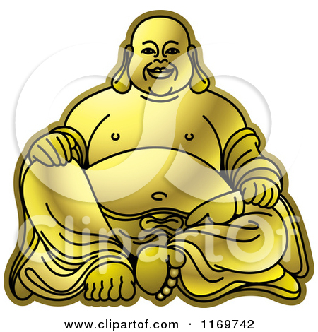 Laughing buddha clipart image black and white download Royalty-Free (RF) Laughing Buddha Clipart, Illustrations, Vector ... image black and white download