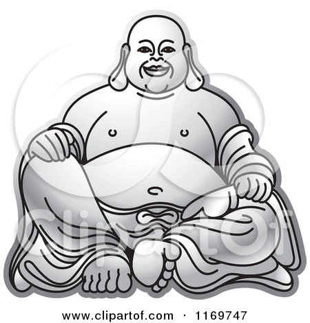 Laughing buddha clipart graphic black and white stock Royalty-Free (RF) Laughing Buddha Clipart, Illustrations, Vector ... graphic black and white stock