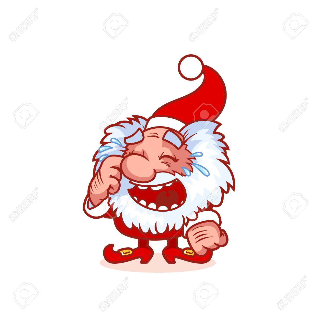 Laughing character clipart clip library library Laughing Christmas Gnome In Red Costume. Funny Cartoon Character ... clip library library