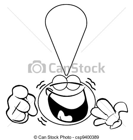 Laughing character clipart clip freeuse library Stock Illustration of Laugh!OL - Laughing exclamation mark ... clip freeuse library