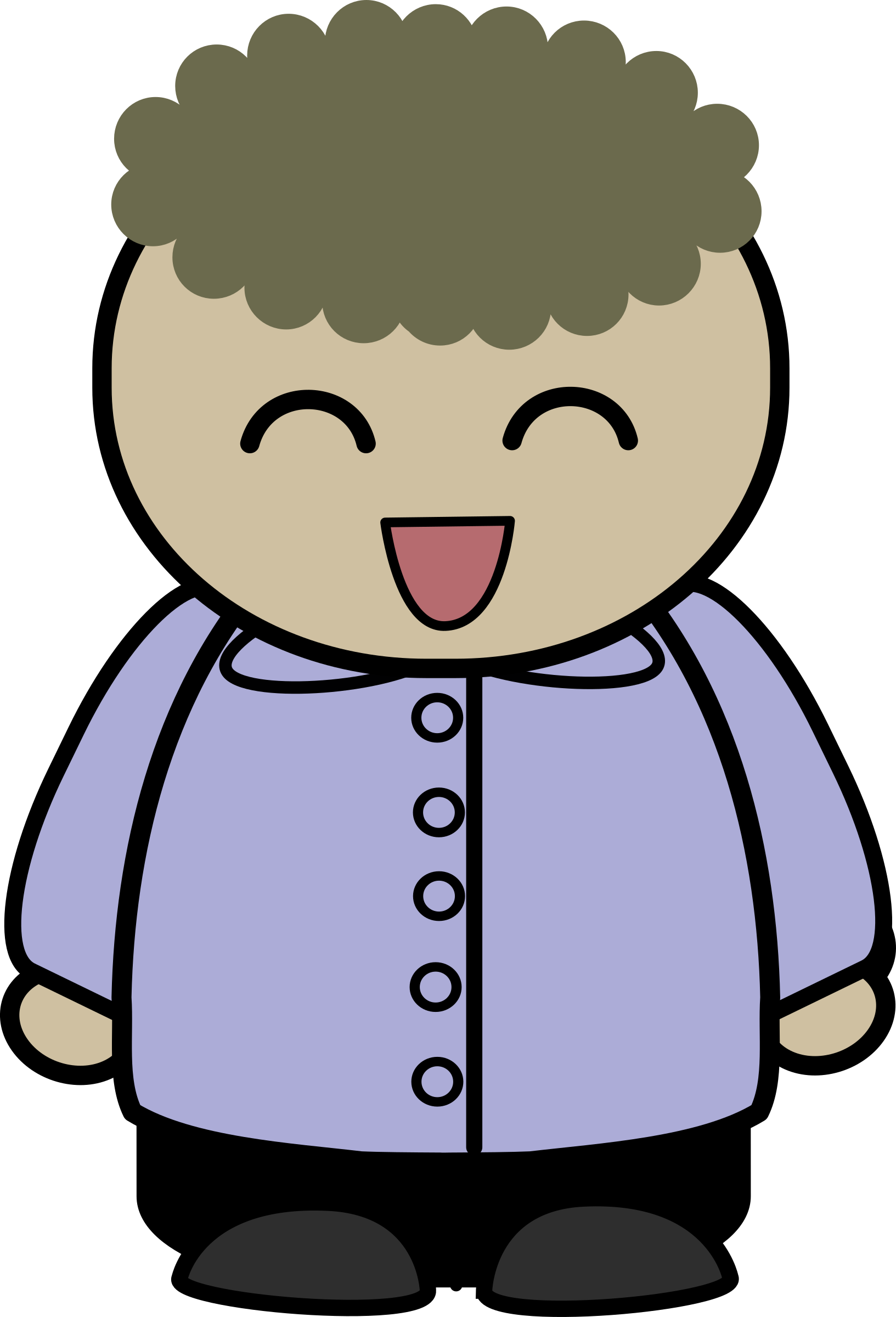 Laughing character clipart graphic Clipart - mix and match character brad laughing front graphic