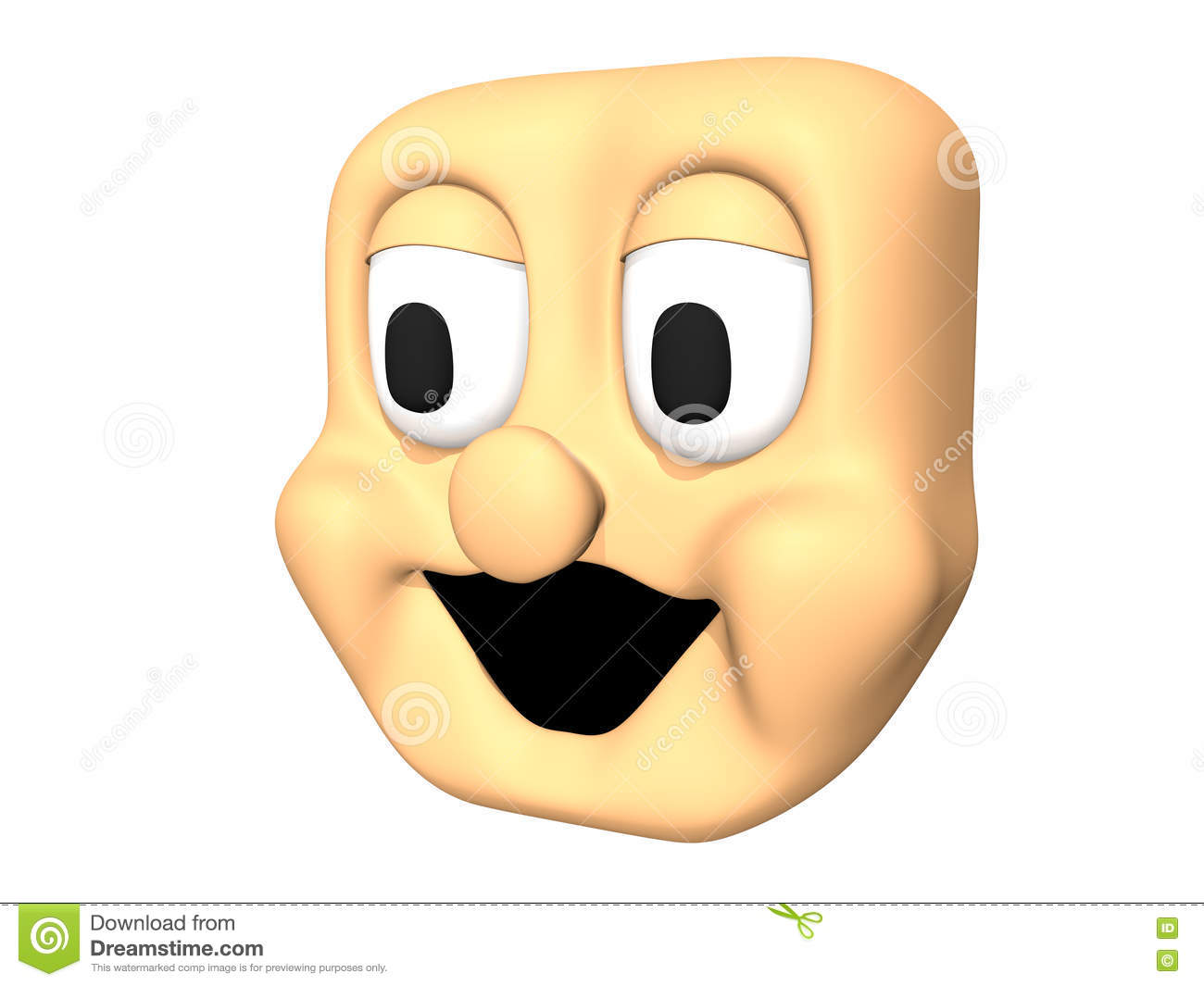 Laughing character clipart clipart royalty free download Funny 3D Laughing Head Icon Of Cartoon Character. Stock ... clipart royalty free download