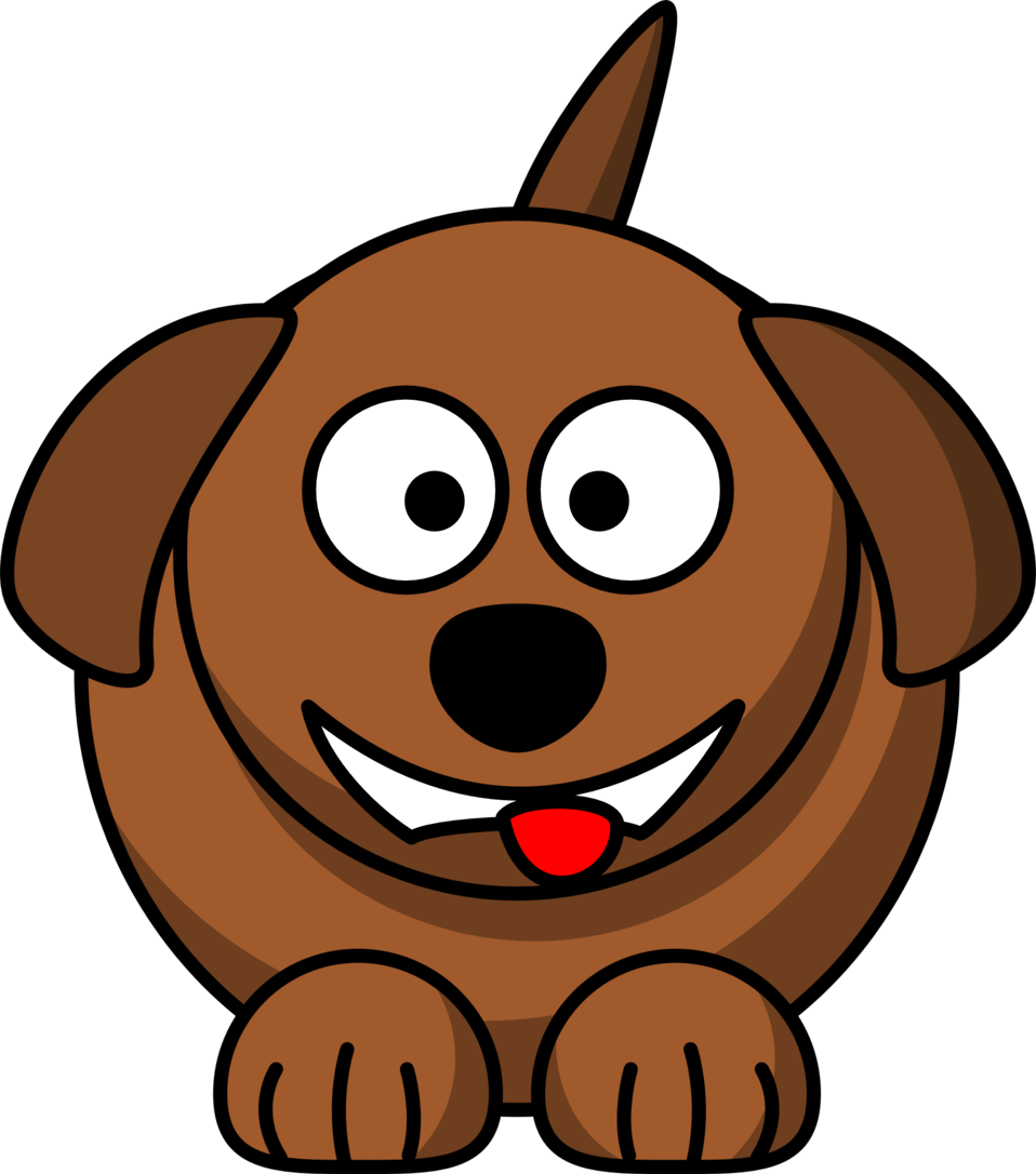 Laughing clipart banner library stock Public Domain Clip Art Image | Cartoon dog laughing or smiling | ID ... banner library stock